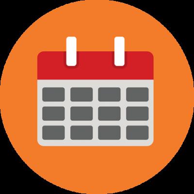 159 1597497 calendar calendar icon png round clipart 1