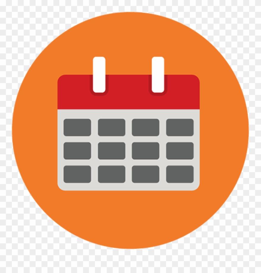 159 1597497 calendar calendar icon png round clipart
