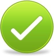Green round tick sign 4866